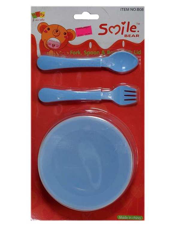 ظرف غذای کودک پلاستیکی آبی