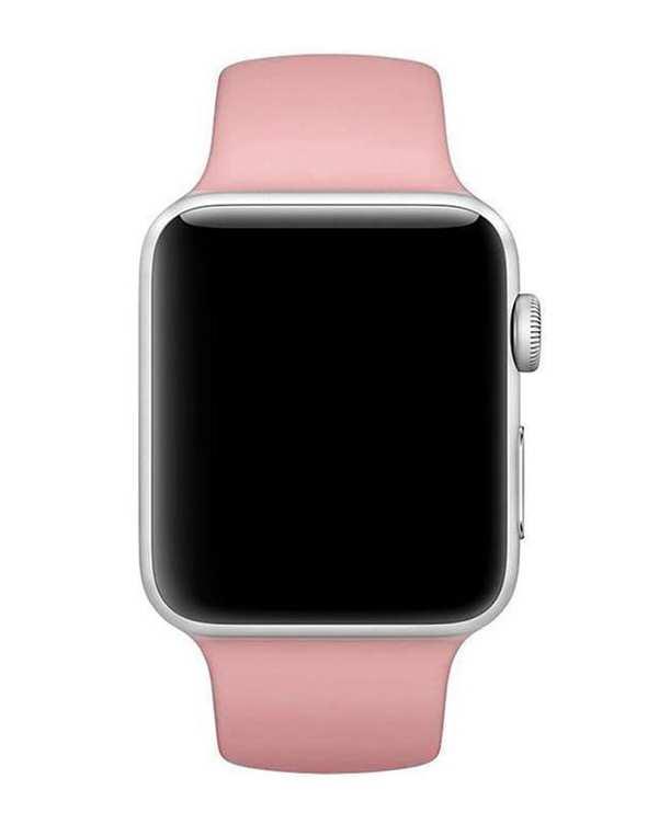 بند سیلیکونی صورتی اپل واچ 42 میلیمتری