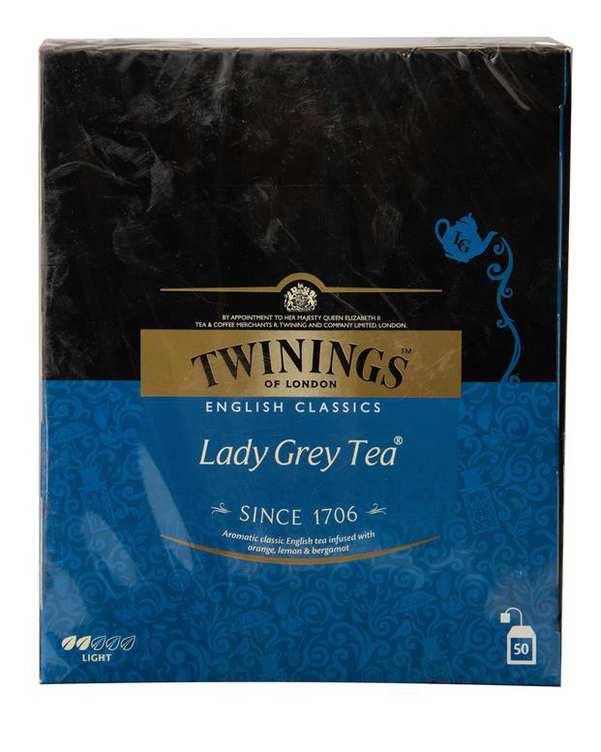 چای سیاه کیسه ای لیدی گری Twinings بسته 50 عددی