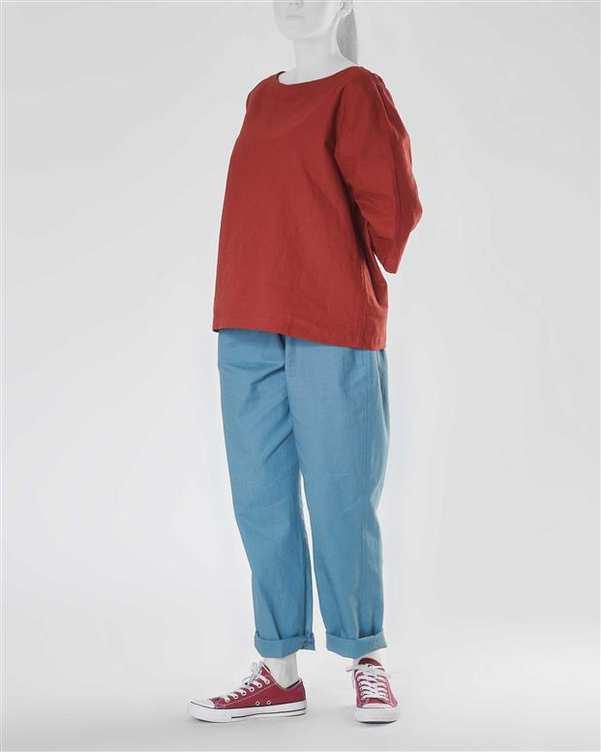 شلوار زنانه تئو آبی Hito Style