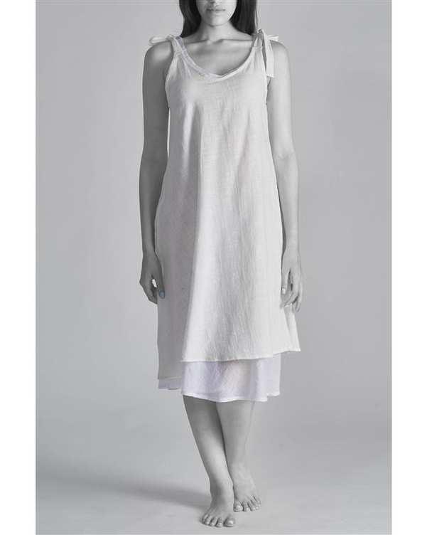 پیراهن زنانه لیبرتاد سفید هیتو Hito Style