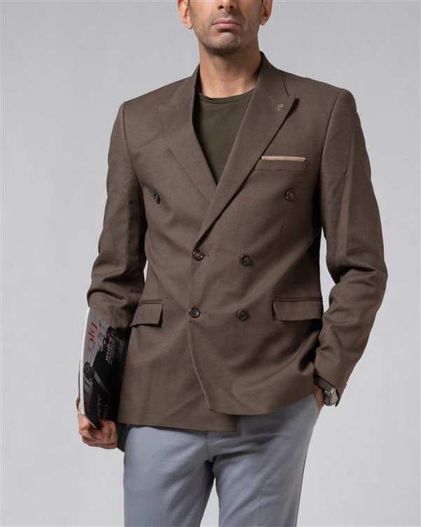 کت تک مردانه قهوه ای جودون LRC