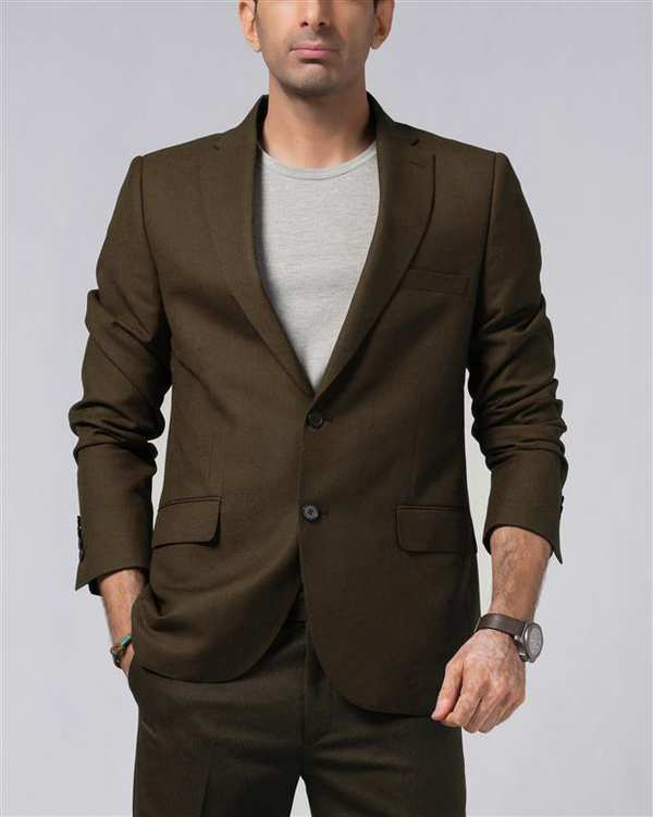 کت تک مردانه قهوه ای  LRC