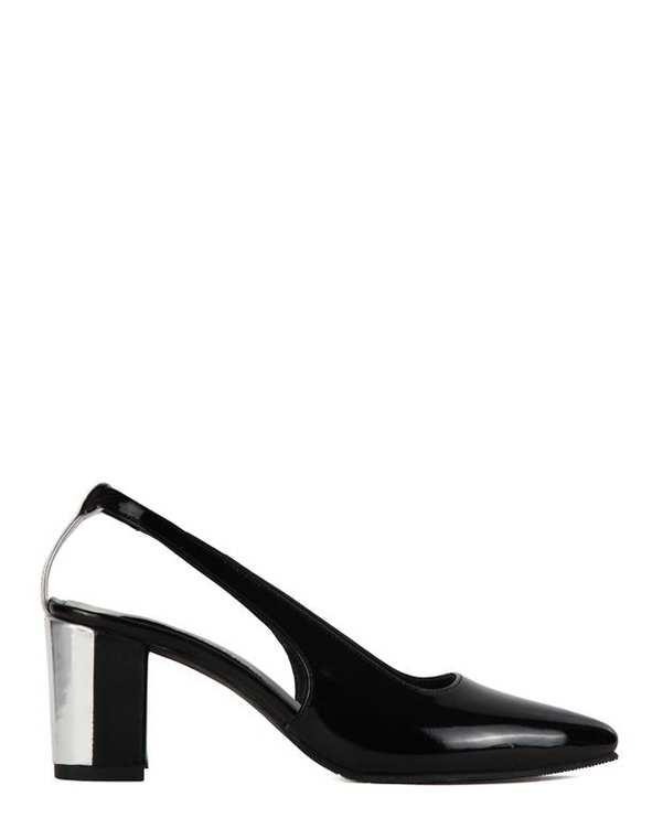 کفش چرم زنانه پاشنه بلند پشت باز Lamia مشکی Artman