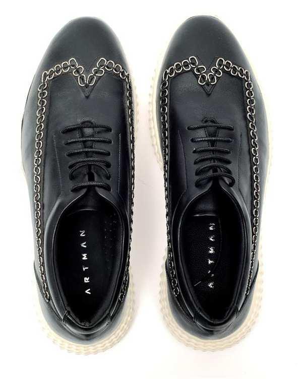 کفش چرم مردانه کژوال Maxwell طوسی تیره Artman