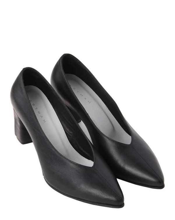 کفش چرم زنانه پاشنه بلند Tara مشکی Artman