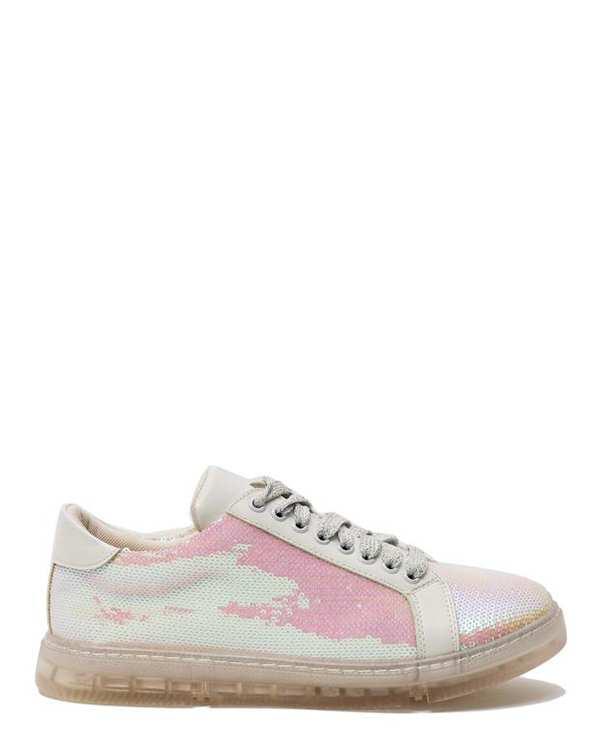 کفش زنانه کژوال پولکی سفید هولوگرامی Lexi