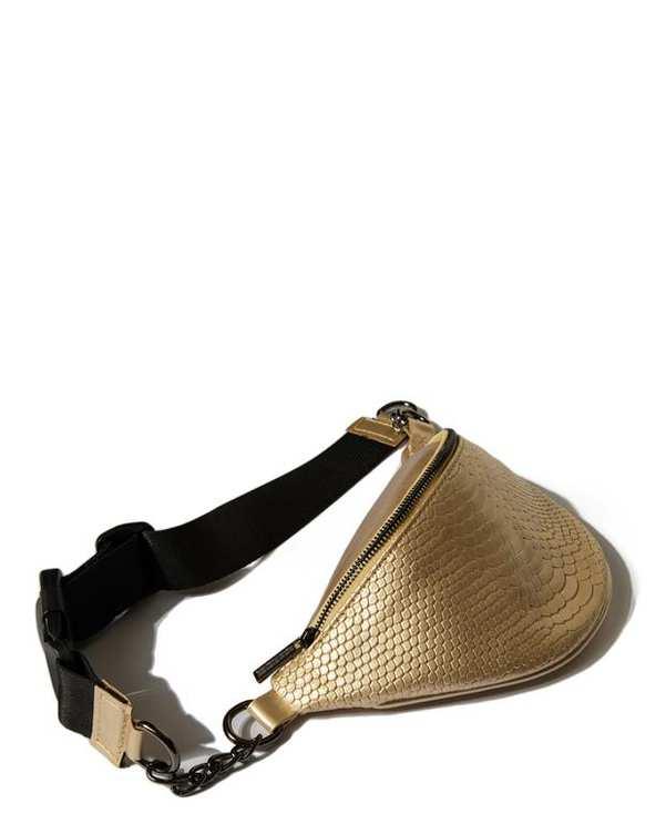 کیف زنانه کمری طلایی پوست ماری Carolina