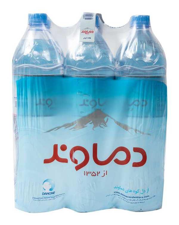 بسته 6 عددی آب معدنی 1.5 لیتری دماوند