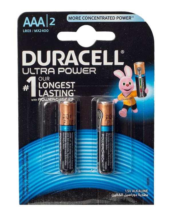 باتری نیم قلمی مدل Ultra Power دوراسلبسته 2 عددی