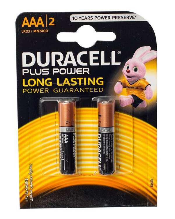 باتری نیم قلمی مدل Plus Power دوراسل بسته 2 عددی