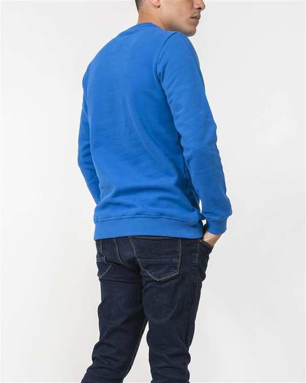 سویشرت مردانه جلو بسته نخی آبی کاربنی JPA