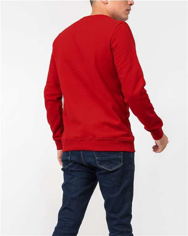 سویشرت مردانه جلو بسته نخی قرمز JPA