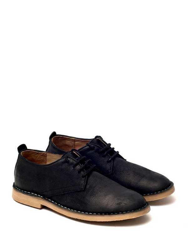 کفش چرم مردانه/زنانه کژوال بندی Sailor 2 مشکی آرتمن Artman