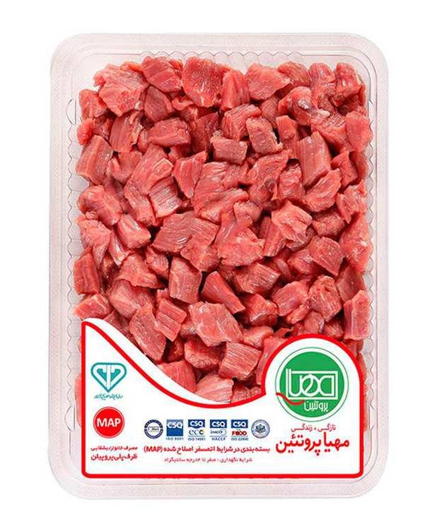 گوشت نگینی استامبولی گوساله 500 گرمی مهیا پروتئین