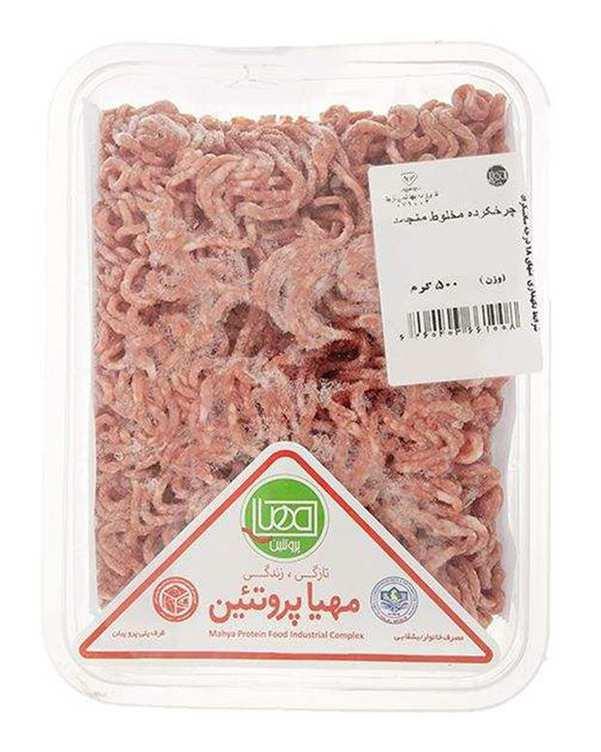 گوشت چرخکرده مخلوط منجمد 500 گرمی مهیا پروتئین