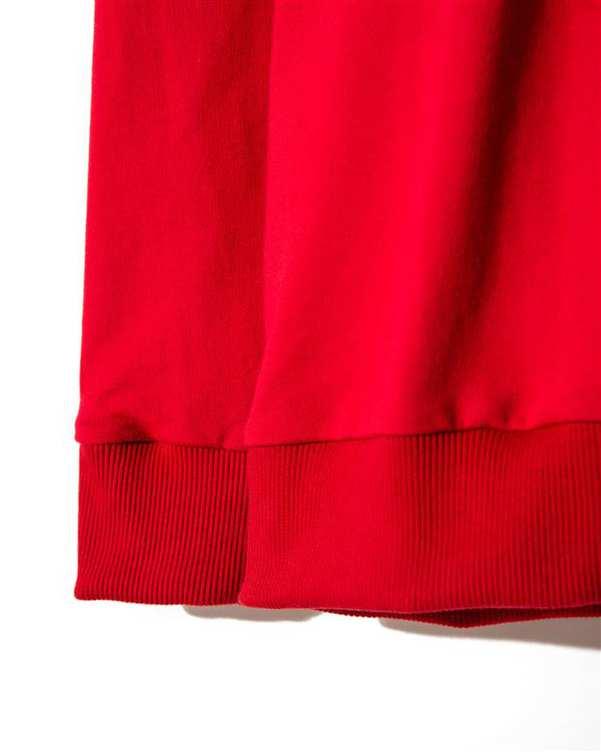 تی شرت زنانه آستین بلند یقه گرد نخی قرمز چوبار