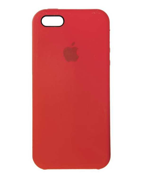 قاب سیلیکونی صورتی تیره اپل Apple iPhone 5/5s/SE