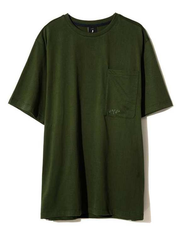 تی شرت مردانه یقه گرد نخی سبز یشمی ویمانا