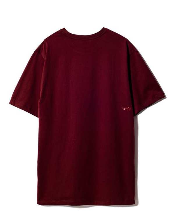 تی شرت مردانه یقه گرد نخی زرشکی ویمانا