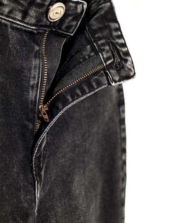 شلوار مردانه جین زغالی ویمانا