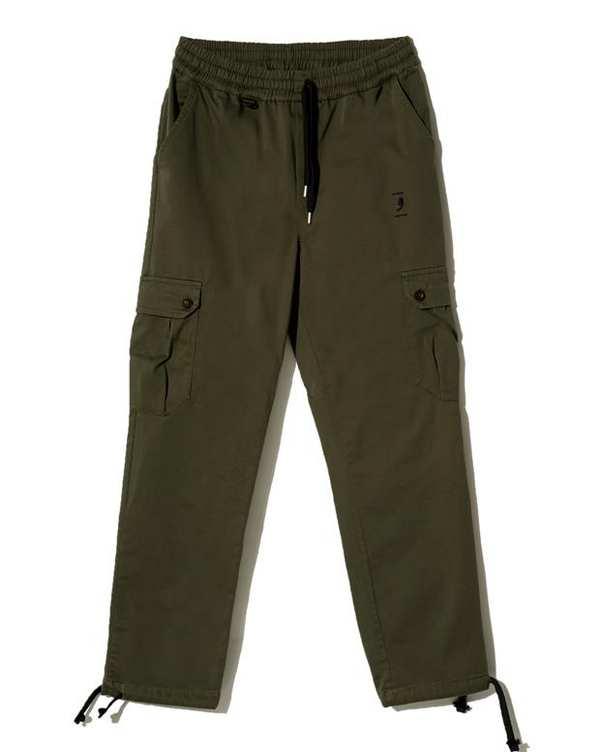 شلوار شش جیب کتان سبز ارتشی ویمانا