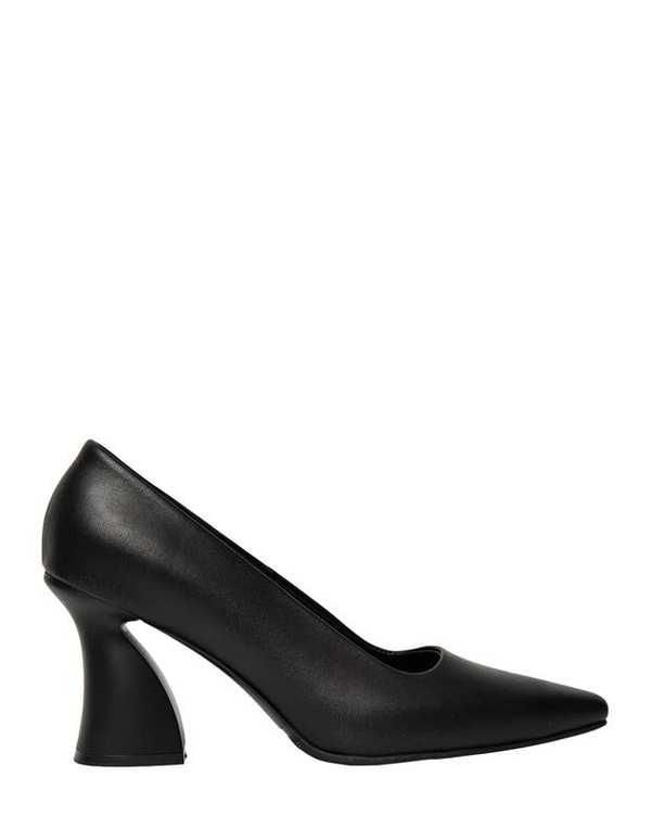 کفش چرم زنانه پاشنه بلند آتوسا مشکی آرتمن