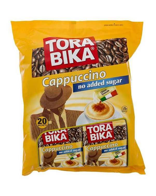 بسته 20 عددی کاپوچینو بدون شکر 250 گرمی تورابیکا