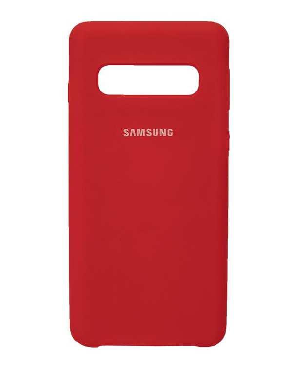 قاب سیلیکونی قرمز سامسونگ Samsung Galaxy S10 Plus
