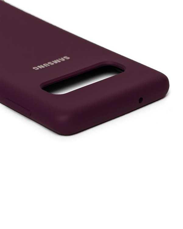 قاب سیلیکونی بادمجانی سامسونگ Samsung Galaxy S10
