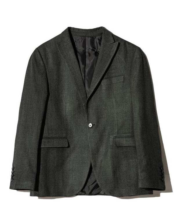 کت مردانه تک پشمی زغالی Bernardo