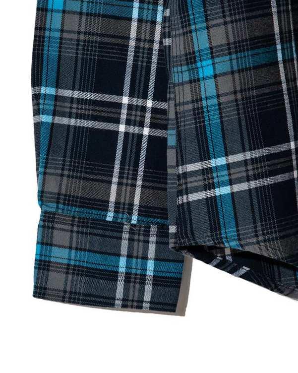 پیراهن مردانه نخی آبی سرمه ای چهارخانه Bernardo