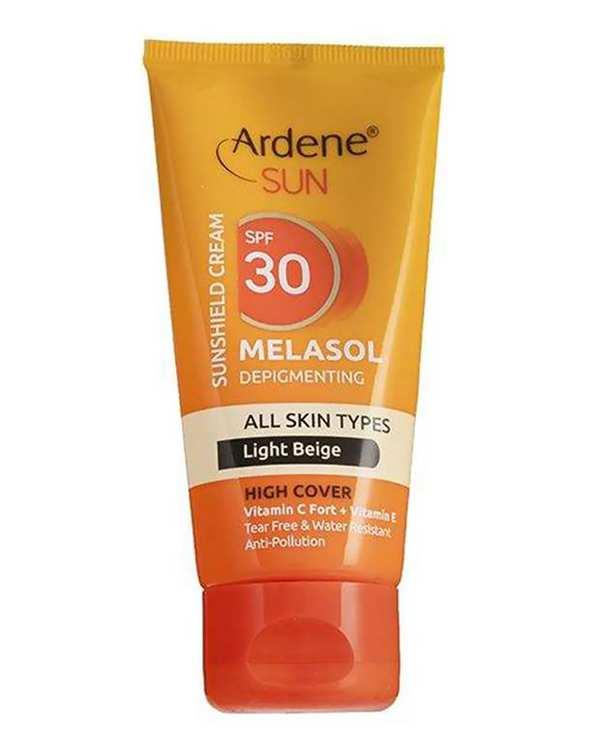 کرم ضد آفتاب Melasol SPF30 بژ روشن 50 میلی لیتری آردن