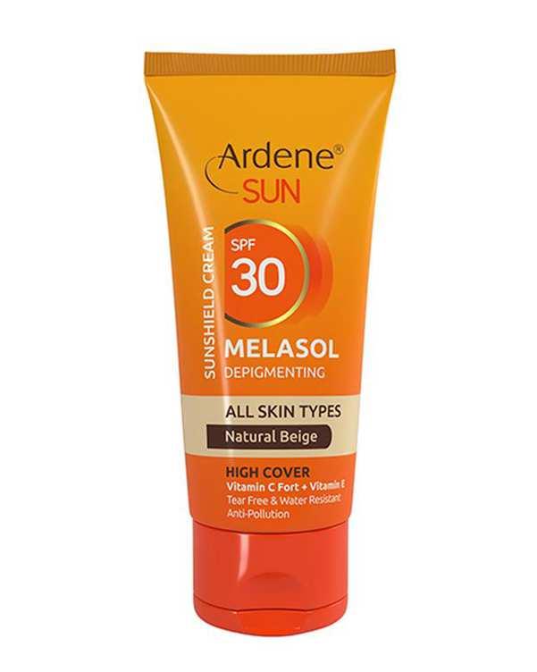 کرم ضد آفتاب Melasol SPF30 بژ طبیعی 50 میلی لیتری آردن
