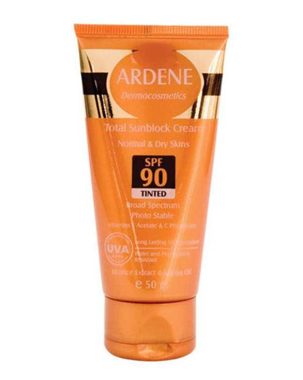 کرم ضد آفتاب رنگی 50 میلی لیتر SPF90 آردن