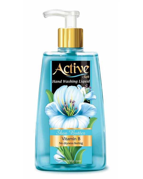 مایع دستشویی نرم کننده پوست آبی 450 گرمی اکتیو