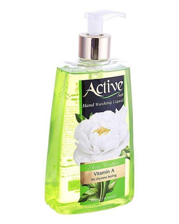مایع دستشویی نرم کننده پوست سبز 450 گرمی اکتیو