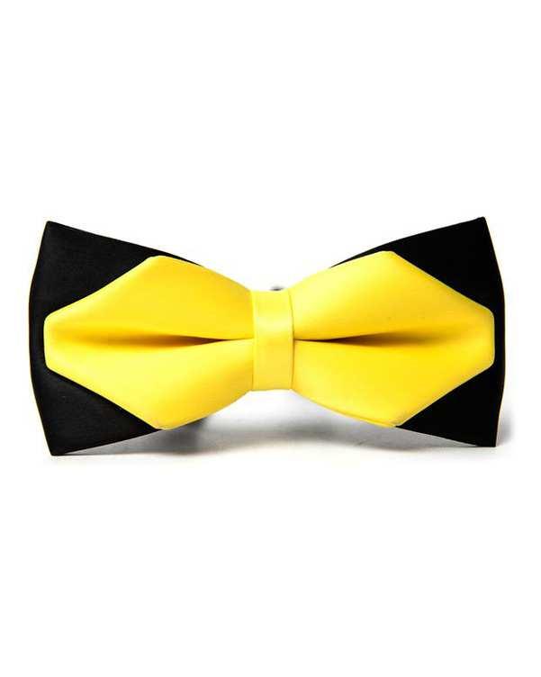 پاپیون ساتن زرد مشکی زاگرس پوش