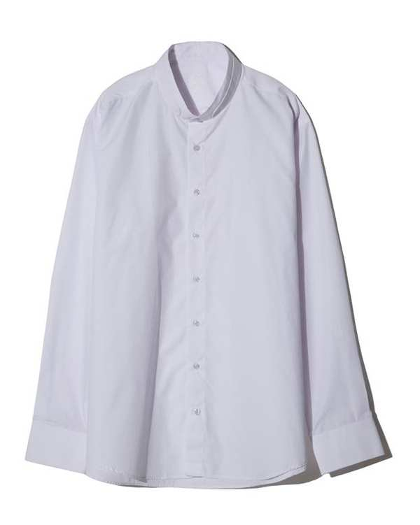 پیراهن مردانه نخی یقه دیپلمات سفید زاگرس پوش