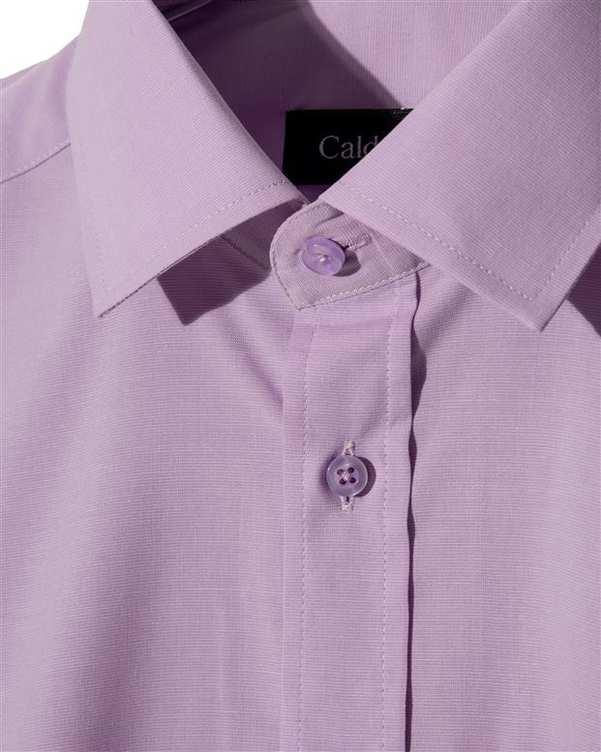 پیراهن مردانه آکسفورد کلاسیک بنفش Caldo Vita زاگرس پوش
