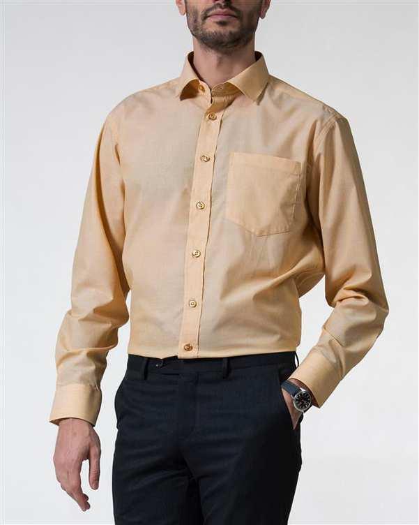 پیراهن مردانه آکسفورد کلاسیک کرم Caldo Vita زاگرس پوش