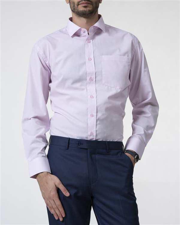 پیراهن مردانه آکسفورد کلاسیک صورتی Caldo Vita زاگرس پوش
