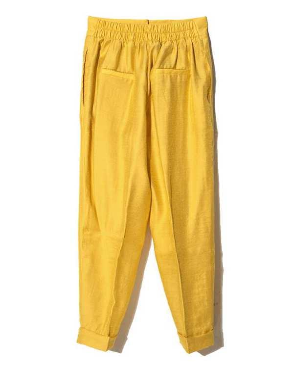 ست کت و شلوار زنانه زرد پرانا Perana