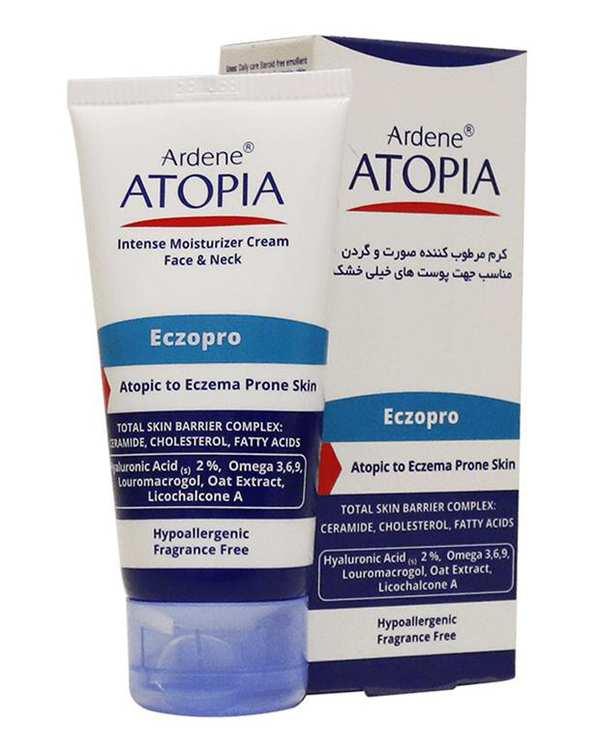 کرم مرطوب کننده صورت و گردن Eczopro مدل Atopia 50ml آردن