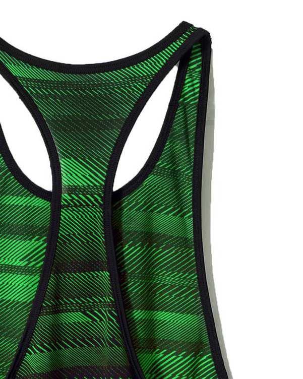 کاور زنانه ورزشی سبز مشکی راه راه Kiddy