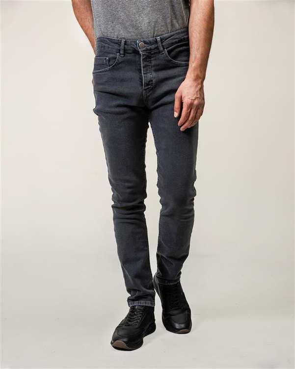 شلوار مردانه جین زغالی Man ten