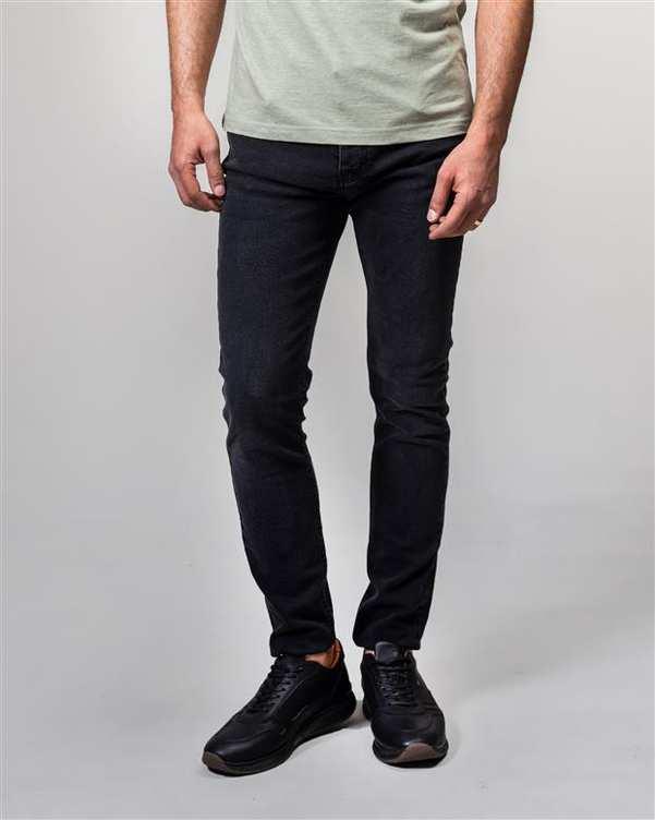 شلوار مردانه جین زغالی ManTen