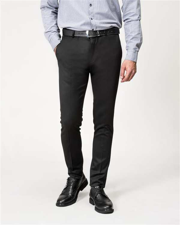 شلوار مردانه پارچه ای مشکی Borcello