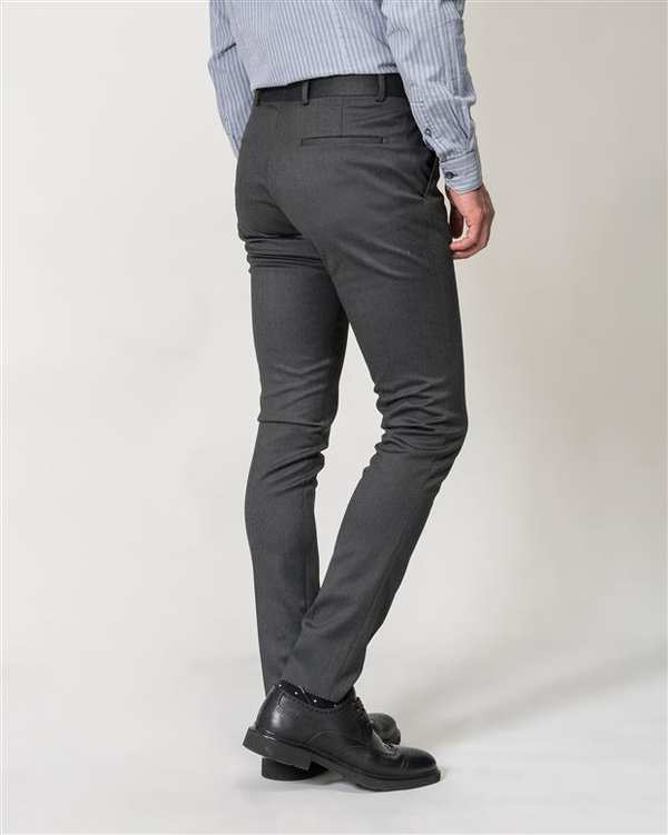 شلوار مردانه پارچه ای زغالی Borcello