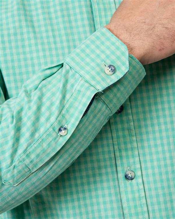 پیراهن مردانه سبز چهارخانه Ebra
